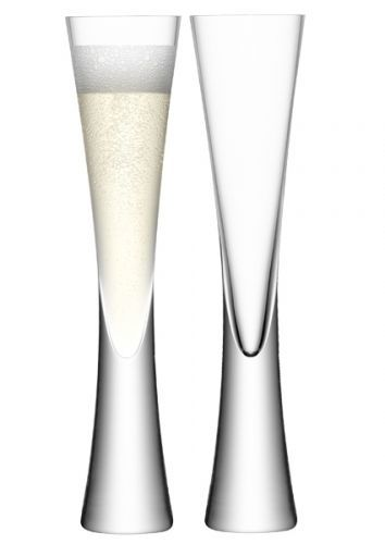 LSA Moya Champagne Flutes - Clear 170ml (Set of 2)