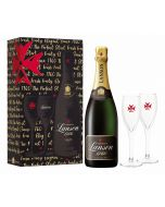 Lanson Perfect Start Black Label Champagne NV 75cl 2 Flute Gift Set