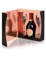 Laurent Perrier Rose Cuvee Brut NV 75cl 2 Flute Gift Set