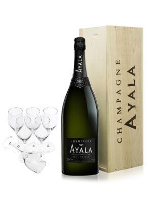 Ayala Jeroboam Brut Majeur Champagne 300cl & 6 Glasses