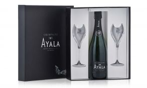 Ayala Brut Majeur Champagne 75cl 2 x Flute Gift Set