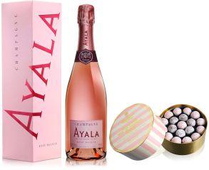 Ayala Rose Majeur Champagne NV 75cl & Pink Truffles 275g