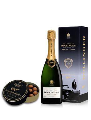 Bollinger Champagne NV 75cl & James Bond 007 Truffles Gift