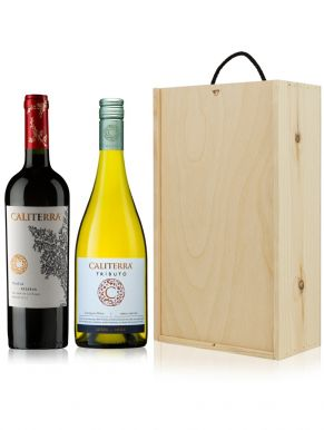 The Caliterra Wine Gift - Chile - 2 Bottles & Wooden Gift Box