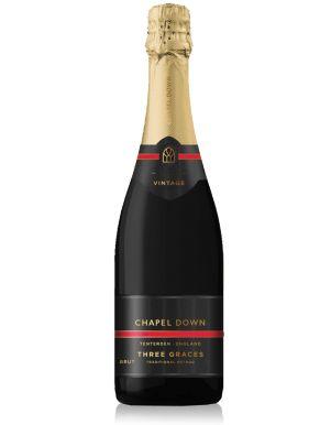 Chapel Down 3 Graces Brut English Sparkling Wine 2016 75cl