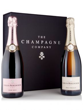 Louis Roederer Brut & Rosé Champagne 75cl Luxury Gift Box