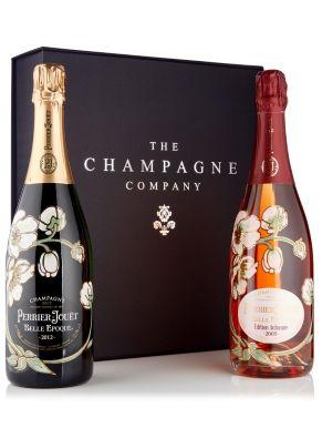 Perrier Jouet Belle Epoque Brut & Rosé Champagne 75cl Luxury Gift Box