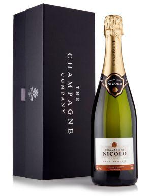 Nicolo Brut Reserve Champagne 75cl Luxury Gift Box