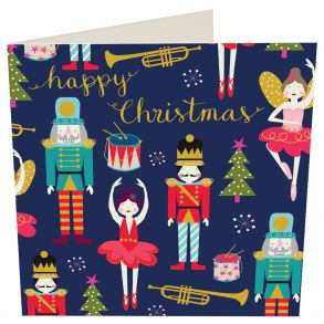 Happy Christmas Nut Cracker 5 x Gift Card Pack