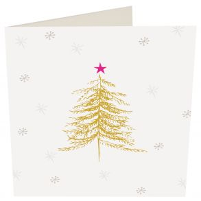 Golden Tree With Stars  5 x Gift Card Pack