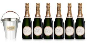Laurent Perrier La Cuvee NV Champagne Case Deal 6x75cl & LP Ice Bucket
