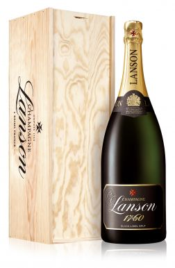 Lanson Magnum Black label Champagne Brut NV 150cl Wooden Gift Box