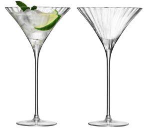 LSA Aurelia Cocktail Glasses - Clear Optic 275ml (Set of 2)