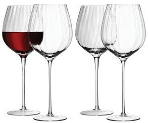 LSA Aurelia Red Wine Glasses - Clear Optic 660ml (Set of 4)