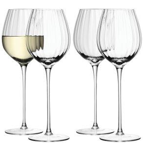 LSA Aurelia White Wine Glasses - Clear Optic 430ml (Set of 4)