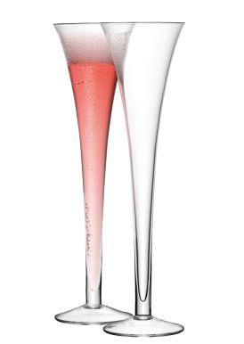 LSA Bar Grand Hollow Stem Champagne Flutes - 200ml (Set of 2) Gift Box