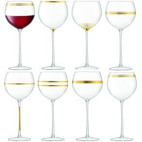 LSA Deco Wine Goblets - Gold 525ml (Set of 8)