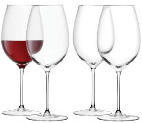 LSA Wine Collection Red Wine Goblet Glasses - 420ml (Set of 4)