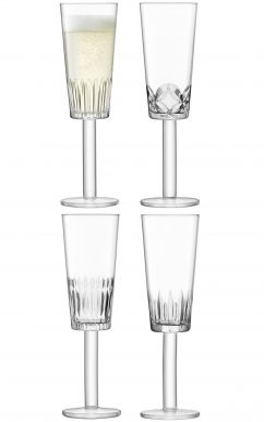 LSA Tatra Champagne Flutes - 250ml (Set of 4)