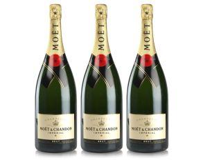 Moet & Chandon Magnum Brut Imperial Champagne 150cl NV x 3