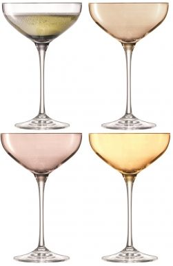 LSA Polka Champagne Saucers - Metallics 235ml (Set of 4)