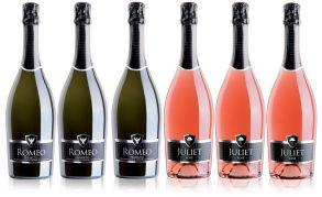Romeo & Juliet Prosecco Brut & Rose Sparkling Wine Case Deal (6x75cl)