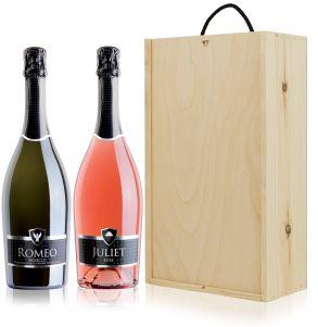 Romeo & Juliet Prosecco Wine Gift Set Duo 75cl