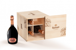 Ruinart Rose 4x75cl Cellar Edition Champagne Wood Gift Box