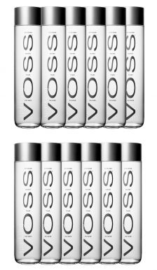 Voss Artesian Sparkling Water Glass Bottles Case of 12 x 800ml
