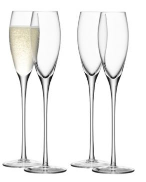 LSA Wine Collection Champagne Flutes - 200ml (Set of 4)