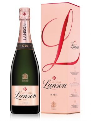 Lanson Rose Label Champagne NV 75cl Gift Box
