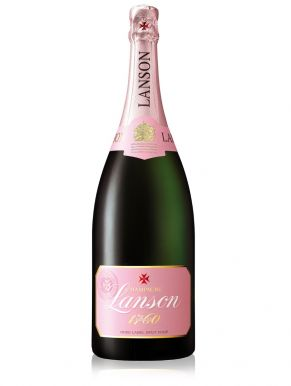 Lanson Rose Label Champagne Magnum NV 150cl Gift Box