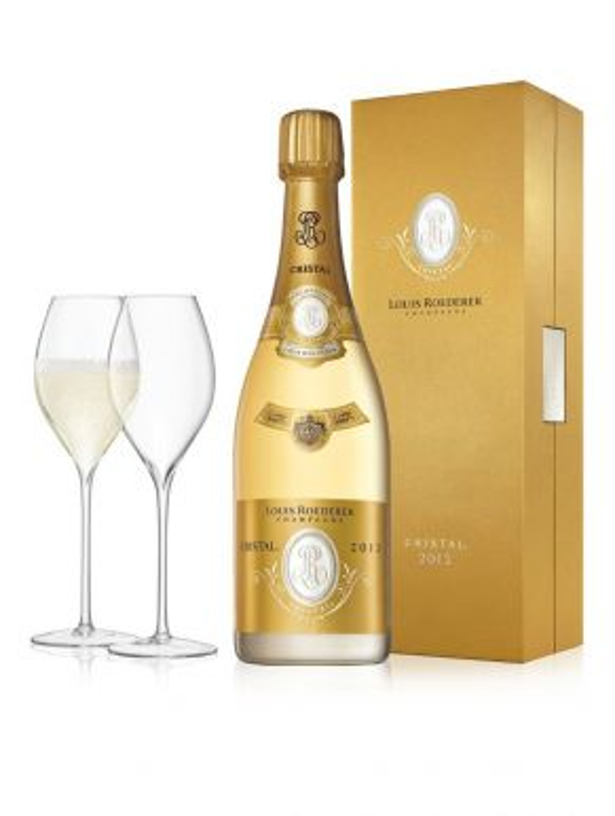Louis Roederer Cristal 2009 Champagne Vintage & LSA Savoy Flutes