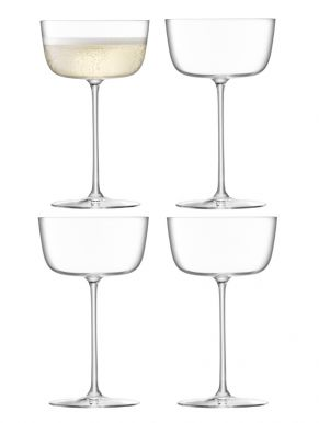 LSA Borough Cocktail Saucers - Clear 240ml x 4