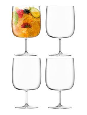 LSA Borough Craft Beer Glasses - Clear 625ml x 4
