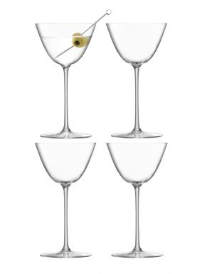 LSA Borough Martini Glasses - Clear 195ml x 4