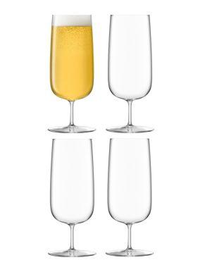 LSA Borough Pilsner Glasses - Clear 440ml x 4
