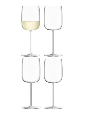 LSA Borough Wine Glasses - Clear 380ml x 4