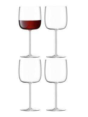LSA Borough Wine Glasses - Clear 450ml x 4
