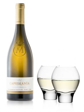 Capellania Reserva Blanco White Wine & LSA Omega Glasses Wine Gift
