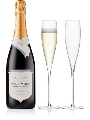 Nyetimber Classic Cuvée Brut 75cl & LSA Savoy Flutes (Set 2)