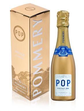 pommery champagne pop gold