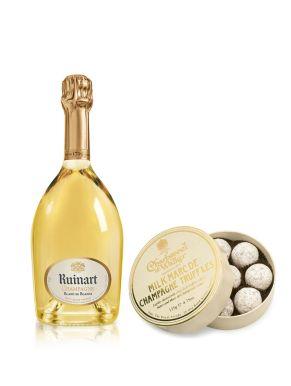 Ruinart Blanc de Blanc Champagne 37.5cl & Milk Truffles 135g