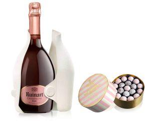 Ruinart Rose Champagne NV 75cl & Pink Truffles 650g