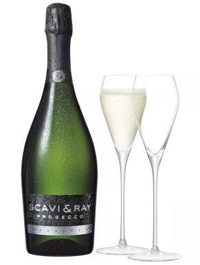 Scavi & Ray Prosecco Spumante & 2 LSA Prosecco Glasses