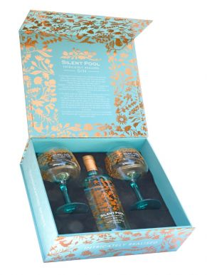 Silent Pool Gin 70cl & 2 Copa Glasses Gift Set