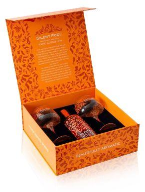 Silent Pool Rare Citrus Gin 70cl & 2 Copa Glasses Gift Set