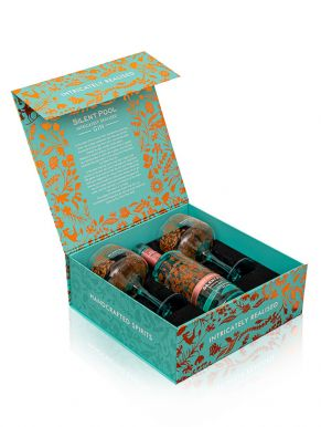 Silent Pool Rose Expression Gin 70cl & 2 Copa Glasses Gift Set