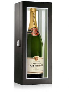 Taittinger Brut Champagne Jeroboam Black Presentation Case 300cl