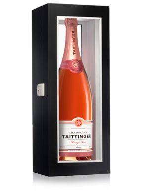 Taittinger Brut Rosé Champagne Jeroboam Black Presentation Case